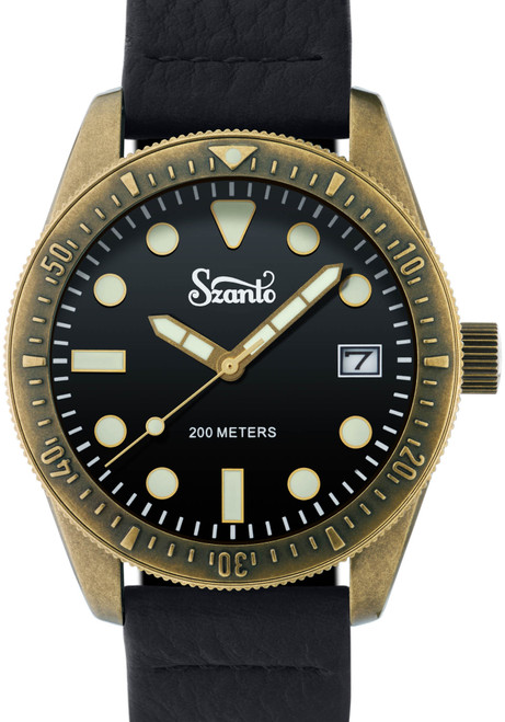 Szanto Vintage Dive Antique Bronze Black Black (SZ5204)
