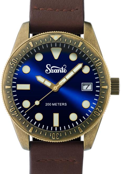 Szanto Vintage Dive Antique Bronze Blue Brown (SZ5205)
