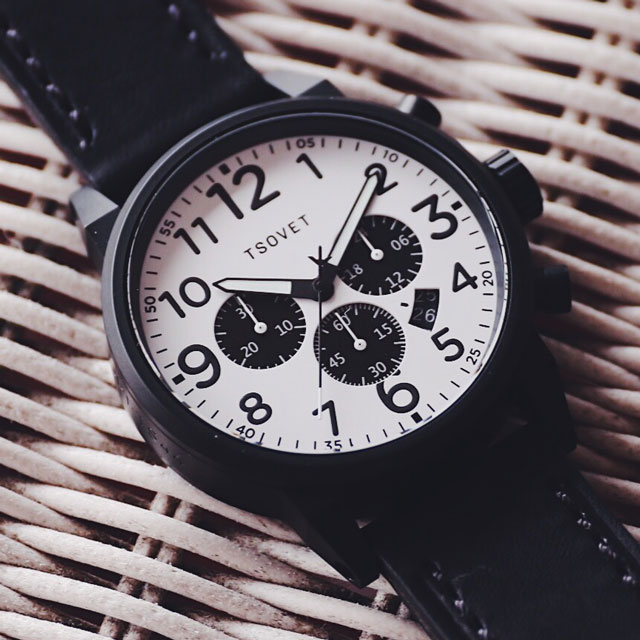 tsovet closeout banner with black and white watch