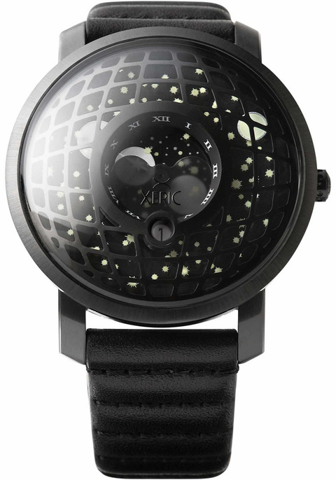 Xeric trappist 1 moonphase all black for Watches xeric
