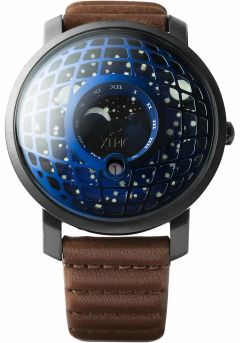 Xeric trappist 1 moonphase blue ip for Watches xeric