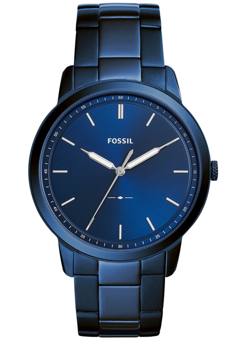 48a3561f85f6 Fossil FS5461 The Minimalist Ocean Blue Stainless Steel