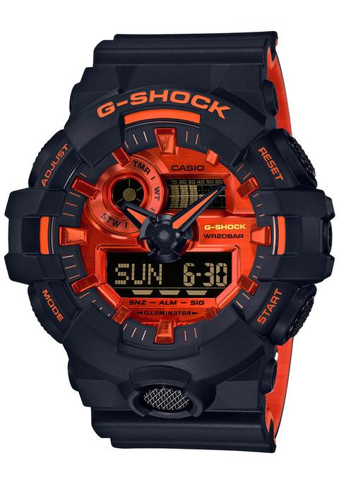 G Shock Ga 700 Black Orange Watches Com