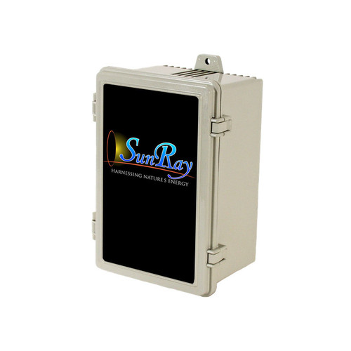 SunRay Solar Controller DC- SOLFLO Pump Motor Showing Data - GPM - Head - Volts - numbers with ie =-PCC-BT-M2