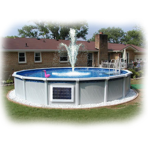 Above Ground Pool Magnet Wireless Power Fountain System 2