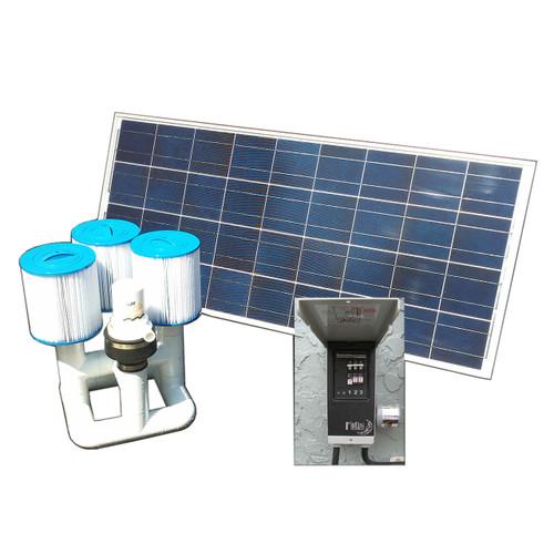Bottom Feeder 120w Solar Pool Pump Filter Cartridge System OS