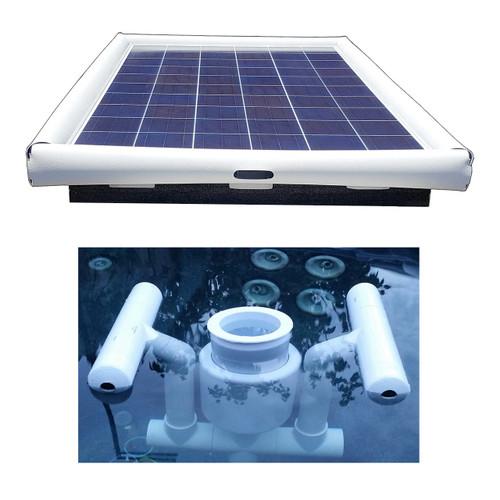 Savior Surface Pond Skimmer Floating Solar Pond Cleaner Solar Powered OS