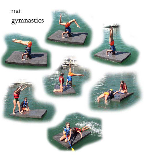 Yoga Floating Workout Mat OS