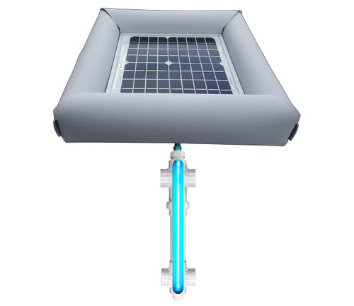 Savior UV Ultraviolet Pool Spa Sanitation Disinfection Systems 20-watt Solar Powered 1,000 Gallon