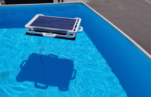 Savior 10000 Gallon Pool or Spa 60-watt Solar Pump and Filter System Solar Pool Cleaner