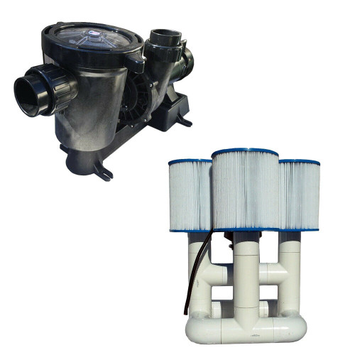 Bottom Feeder 0.5HP Solar Pool Filter Pump 6,000 GPH 330w without PV Solar Open