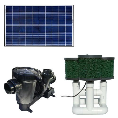 Bottom Feeder 0.5HP Solar Pond Filter Pump 6,000 GPH 330w 36V Variable - Speed
