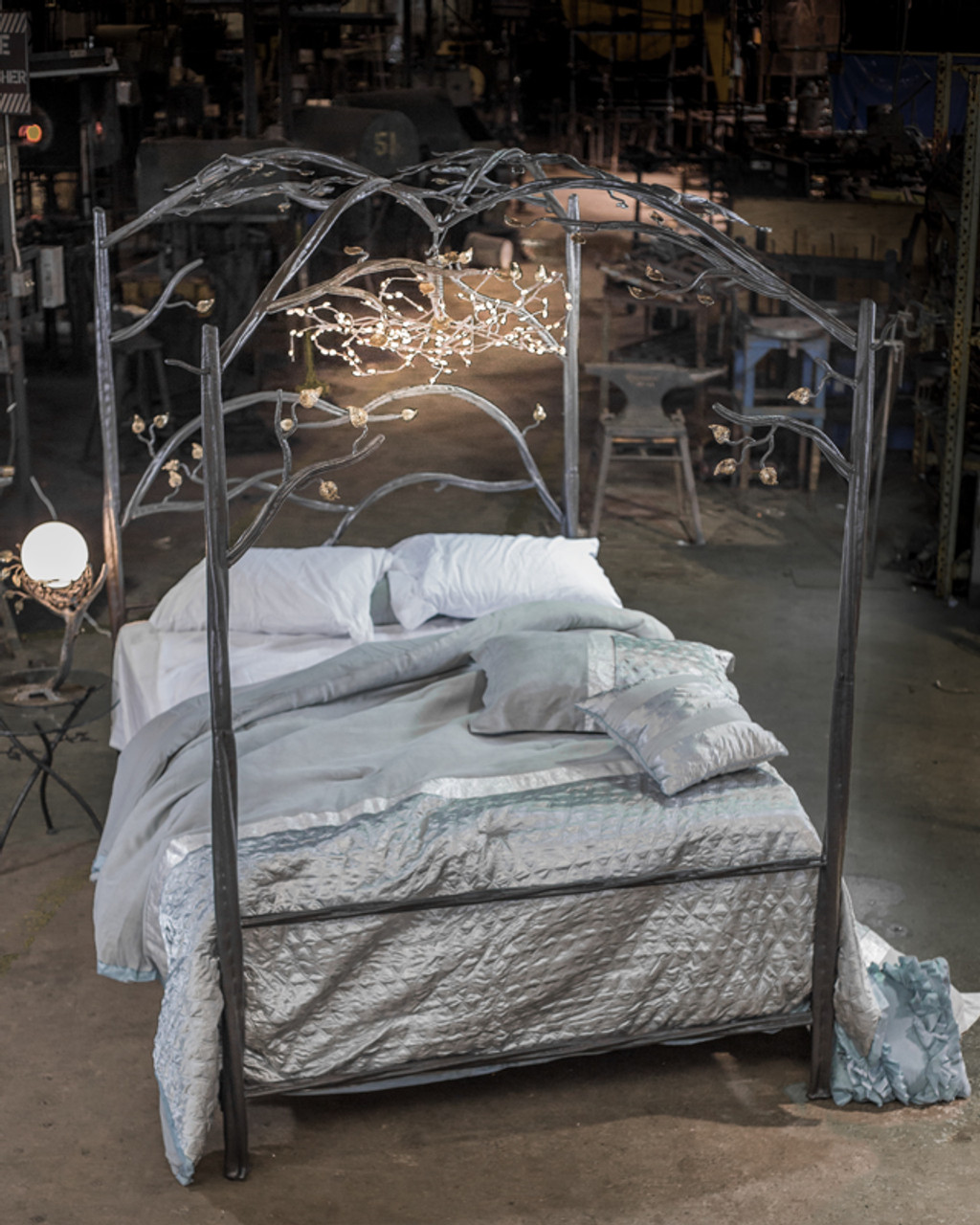 - Forest Canopy Bed Iron Queen Size Bed Frame