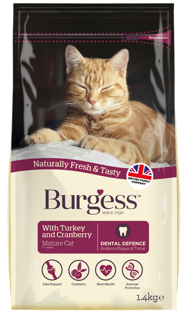 Mature Cat with Turkey & Cranberry 1.4kg