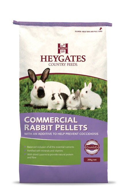 Heygates Commercial Rabbit Pellets with Coccidiostat 20kg