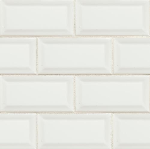 3x6 Subway- White Beveled