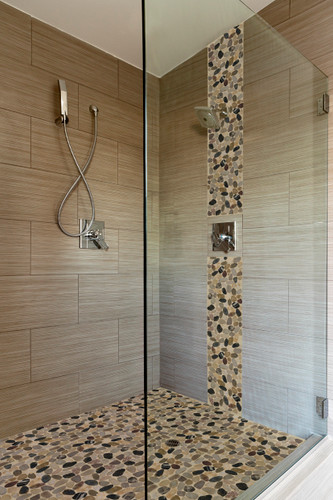 Accent Tile! Where to install in the shower and why its on TREND!