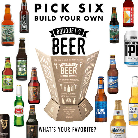 Bouquet of Beer - Build Your Own