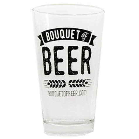 Bouquet of Beer Pint Glass