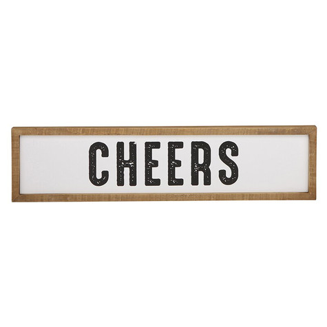 "Cheers! 25x6"" Sign"