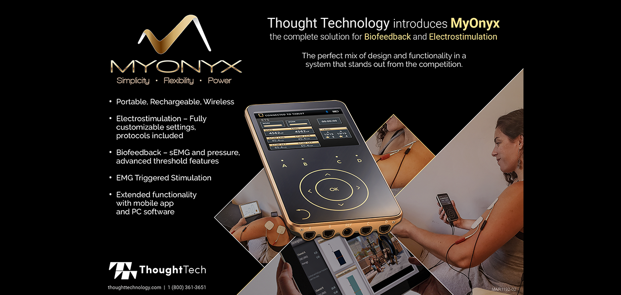 New MyOnyx Rehab Solution Allows Better Targeting and Training of Specific Muscle Groups