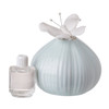 Bone China Decorative Perfume Bottle with Butterfly Top (Teal Pastel)