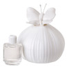 Decorative Perfume Bottle with Butterfly Top (White Pastel)