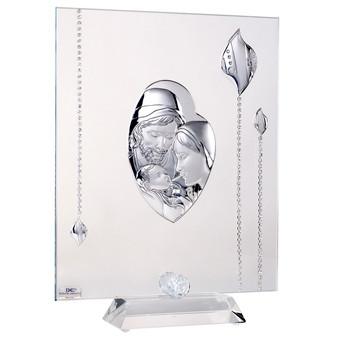 Argento Holy Family W. Swarovski Crystal religious wedding gift