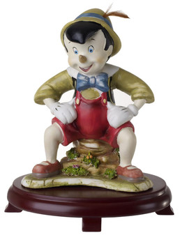 Pinocchio Figurine Children Centerpiece On Wood Base