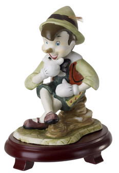 Pinocchio Figurine Centerpiece On Wood Base
