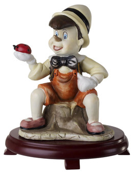 Pinocchio Figurine Childrens Centerpiece On Wood Base