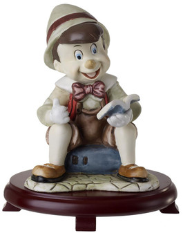 Pinocchio  Childrens Figurine  Centerpiece On Wood Base
