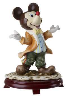 Mickey Mouse Figurine Centerpiece On Wood Base