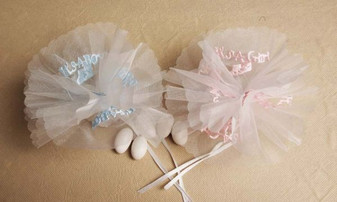 It's a Girl It's a Boy Netting 25 pc bag wedding party favors sale