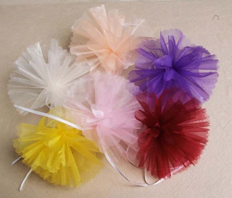 "Organza Round Netting Tulle 9"" 25 Pc Scallop 25 pc bag"