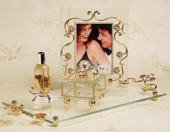 Debora Carlucci 4 Pc 18kt Gold Plated Vanity Set  wedding favors