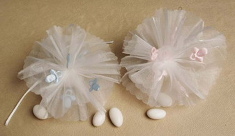 Pink / Blue Pacifier Netting 25 pcs bag wedding party favors sale