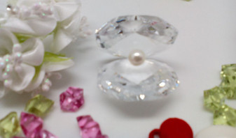 Italian Crystal Shell With Pearl Debora Carlucci Party Favor and gifts