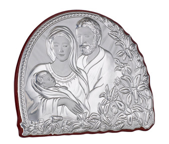 Holy Family Italian 925 Argento Religious Plaque