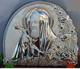 Padre Pio 925 Argento Italy religious Icon, Icon