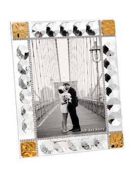 18kt Gold Plated Crystal Picture Frame Made With 100% Swarovski Crystal wedding party Gifts