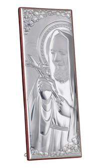 Saint Padre Pio  Silver plaque