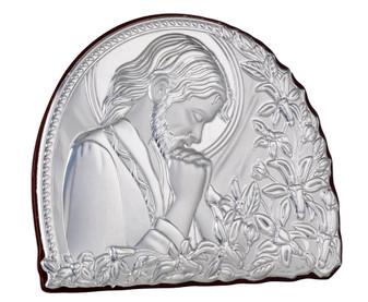 Italian 925 Silver Praying Jesus Religious Icon