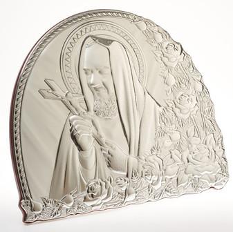 Padre Pio Religious Icon 925 Silver