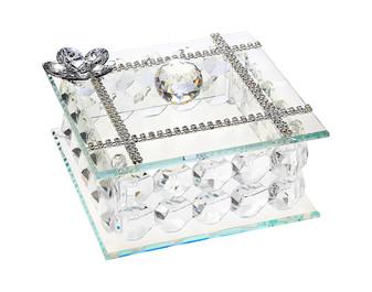 Debora CarluccI Silver Jewelry Box Swarovski Crystal