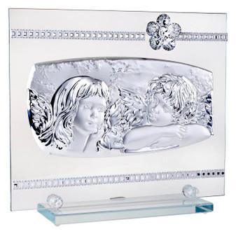 Debora Carlucci 925 Silver Guardian Angels with Crystal Flower