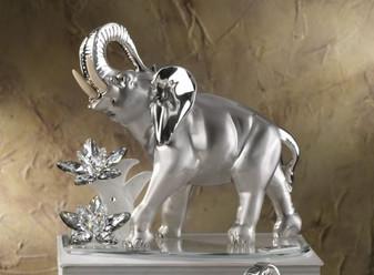 Debora Carlucci 925 Silver Elephant w. Swarovski Crystal Made With 100% Swarovski Crystal