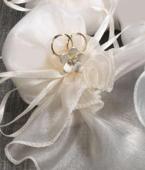 Organza Ruffle edge Confetti Holders  Pendant Included