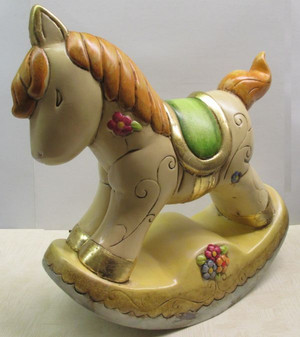 Porcelain Jumbo Rocking Horse party favor