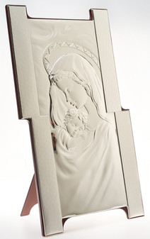 Mother and Child SIlver Plaque Holy Wedding Gifts